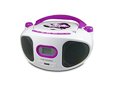 metronic 477122 radio lecteur cd mp3 portable pour enfant miss angel avec port usb blanc. Black Bedroom Furniture Sets. Home Design Ideas